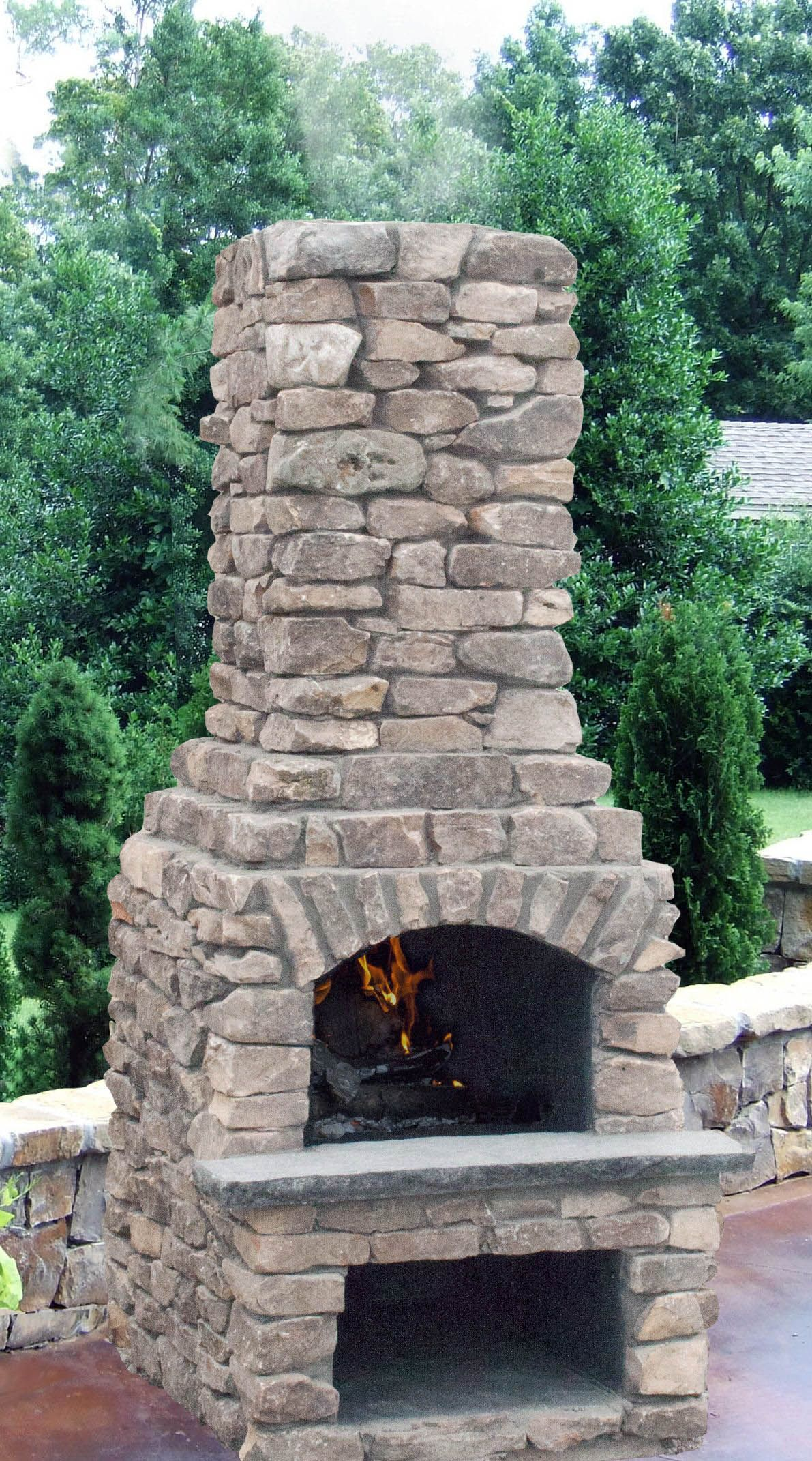 Find stone fireplace options only on this page outdoor