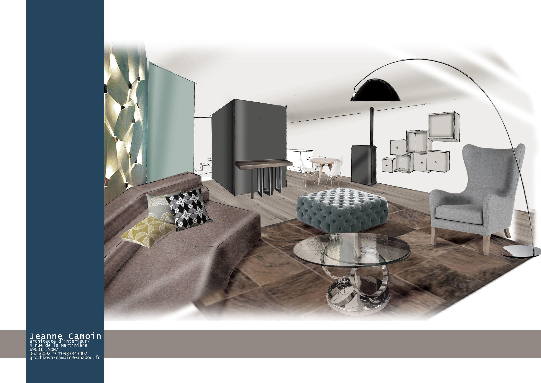 Gallery of perspective photoshop et dessin pour for Dessiner un salon