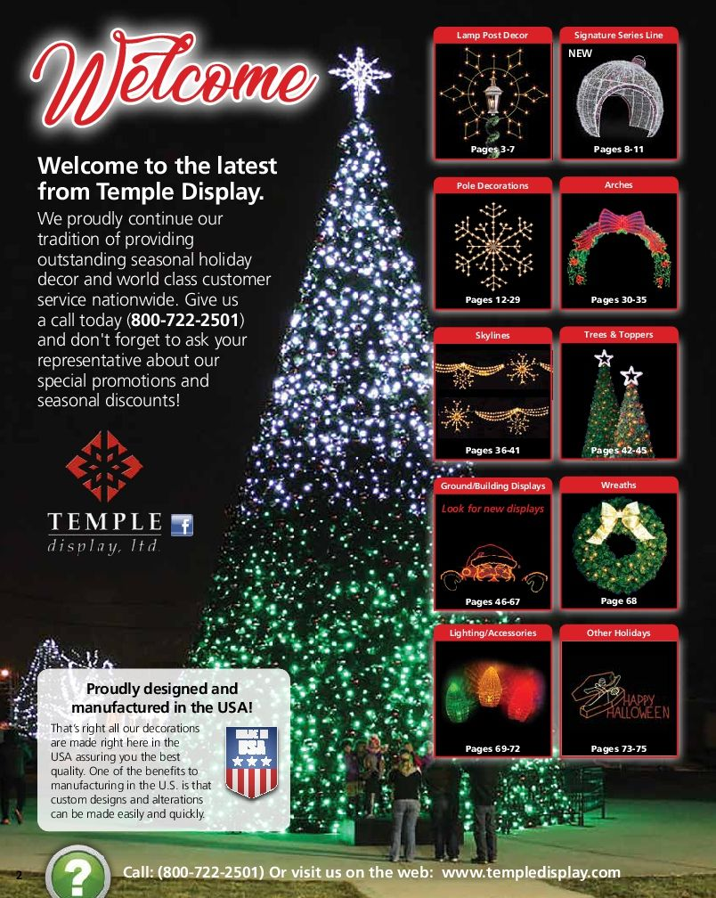 Get Your Free Commercial Holiday Decor Catalog For Cities, Light Shows
