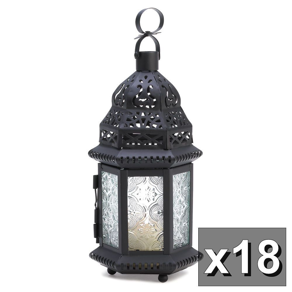 18 Moroccan Style Clear Lantern Candle NEW WHOLESALE WEDDING LOT ...