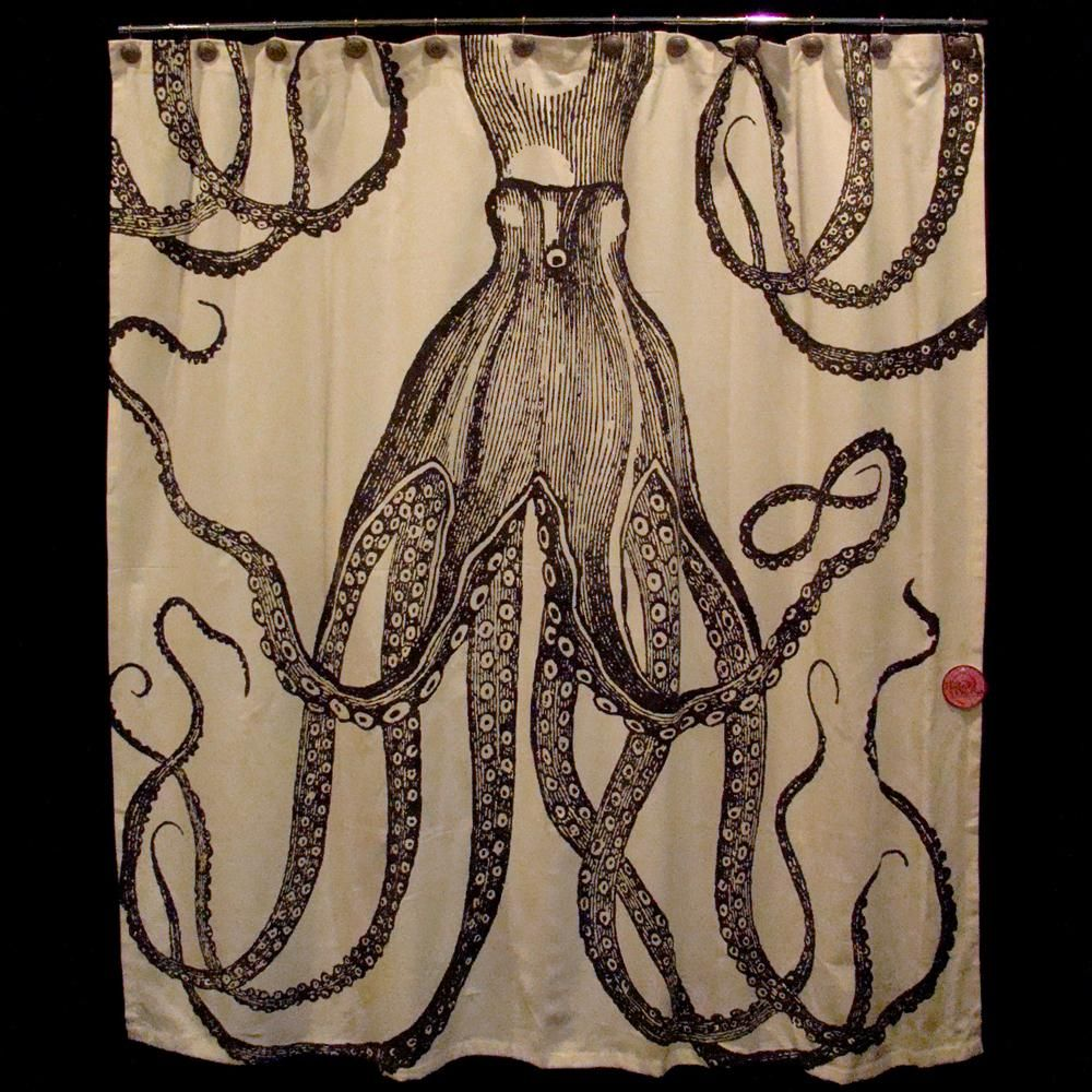 Love This Squid Shower Curtain As Seen At Kris And Carries Apartment