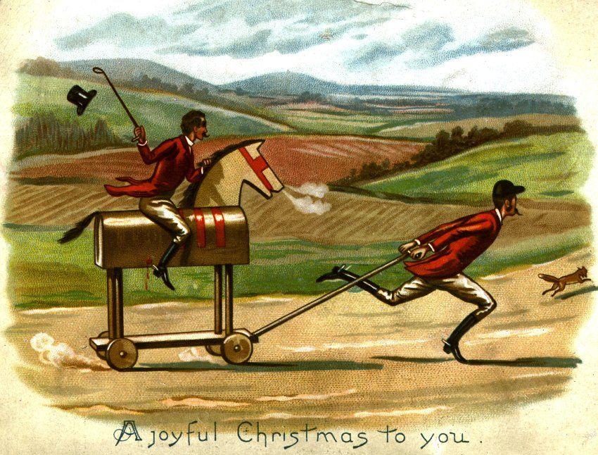 Grüne Weihnachten: Postkarten aus dem 19. Jahrhundert