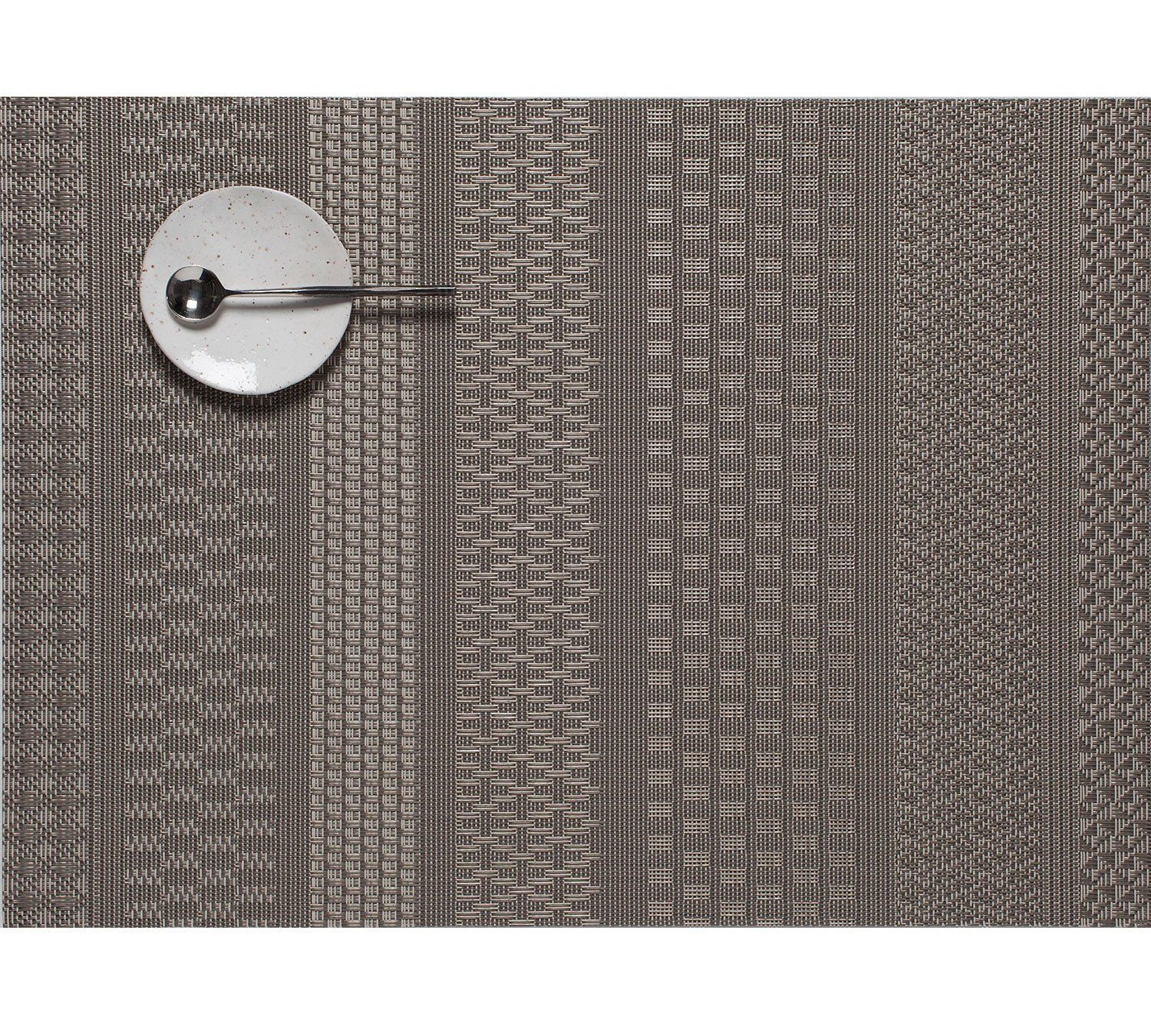 Mixed Weave Luxe Rectangle Placemat In Topaz Design By Chilewich Placemats Chilewich Weaving