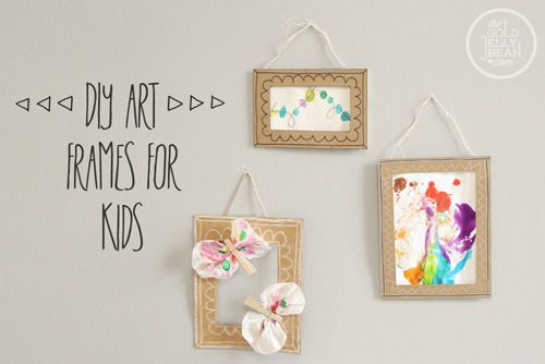 10 Inexpensive DIY Art & Picture Frame Ideas | Kids | Pinterest ...