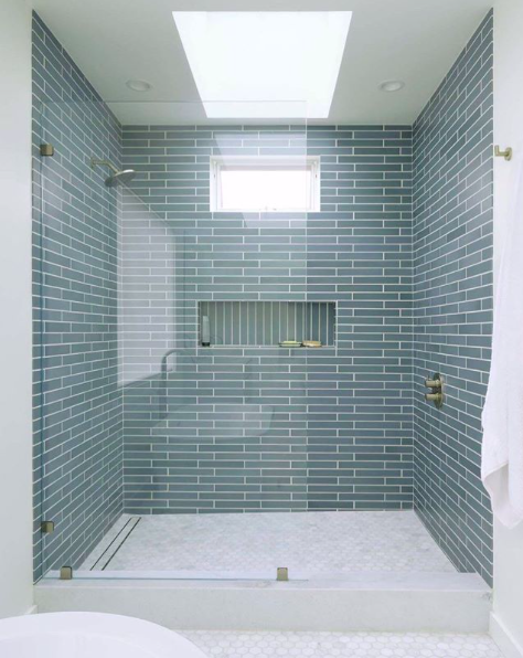 Natural Light Is The Best Light Fixtures By Watermark Designs Design By Sfdesignbuild In 2020 Green Tile Bathroom Green Bathroom Bathroom Design