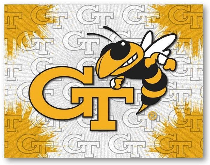 Georgia Tech Yellow Jackets D1 Printed Logo Canvas. Visit ...