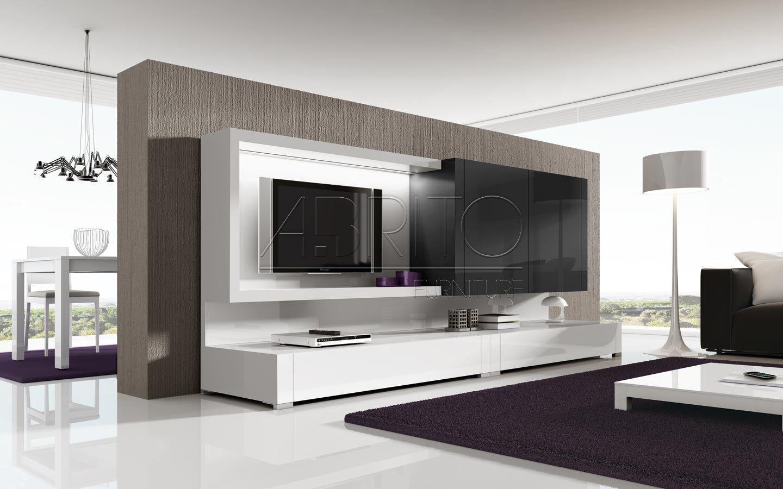 Libreros Modernos Para Salas Buscar Con Google Casa Molino  # Meuble Tv Design Bois Et Verre