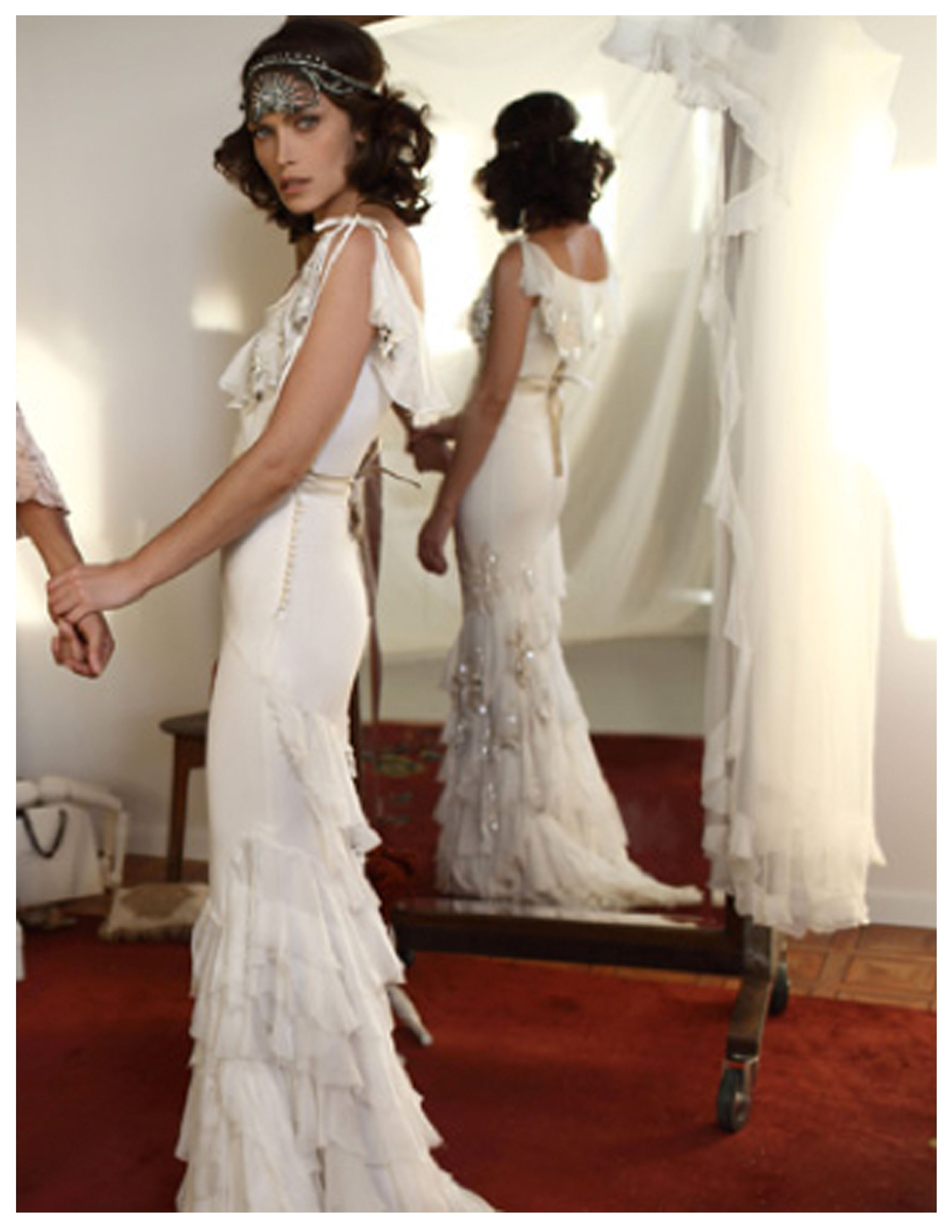 Flapper style wedding dresses