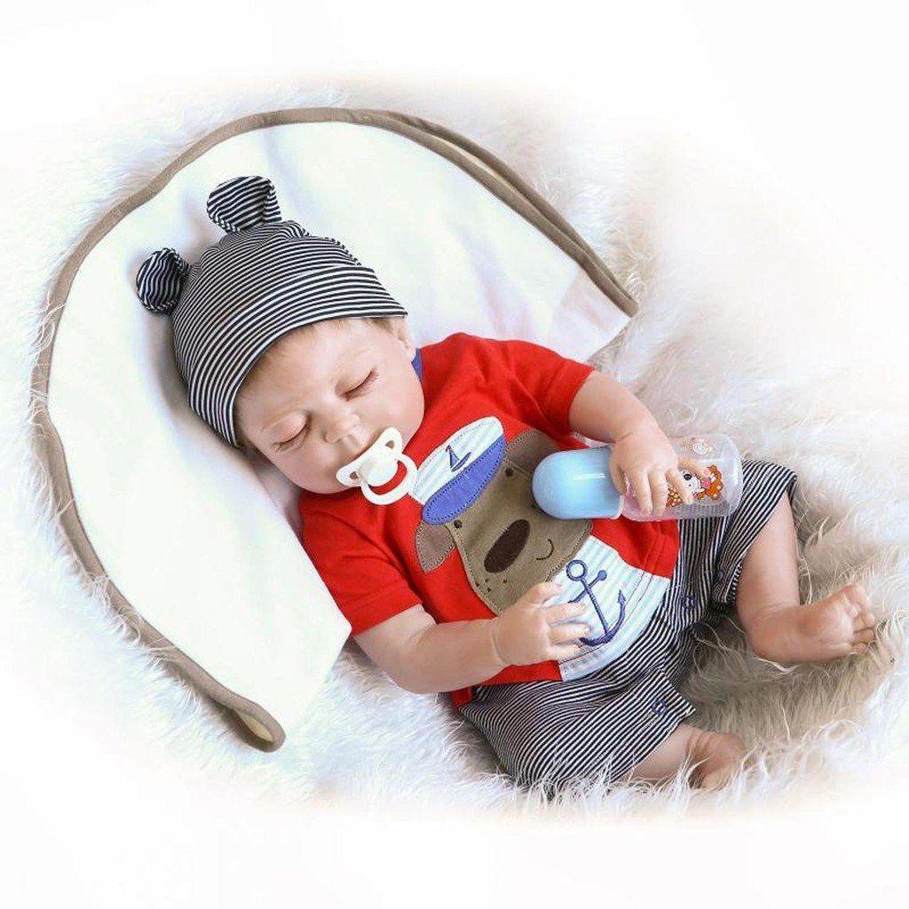 "10/"" Handmade Newborn Christmas Gift Full Body Soft Vinyl Silicone Baby Boy Dolls"