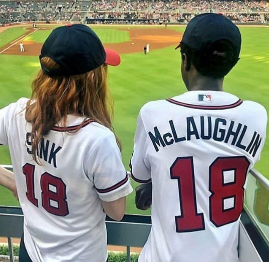 Sadie Sink And Caleb Mclaughlin At A Braves Game
