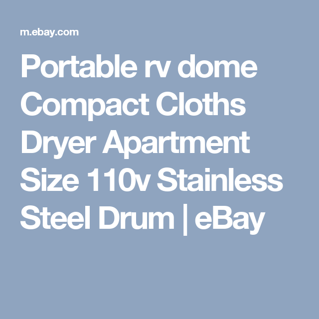 Portable Rv Dome Compact Cloths Dryer Apartment Size 110v