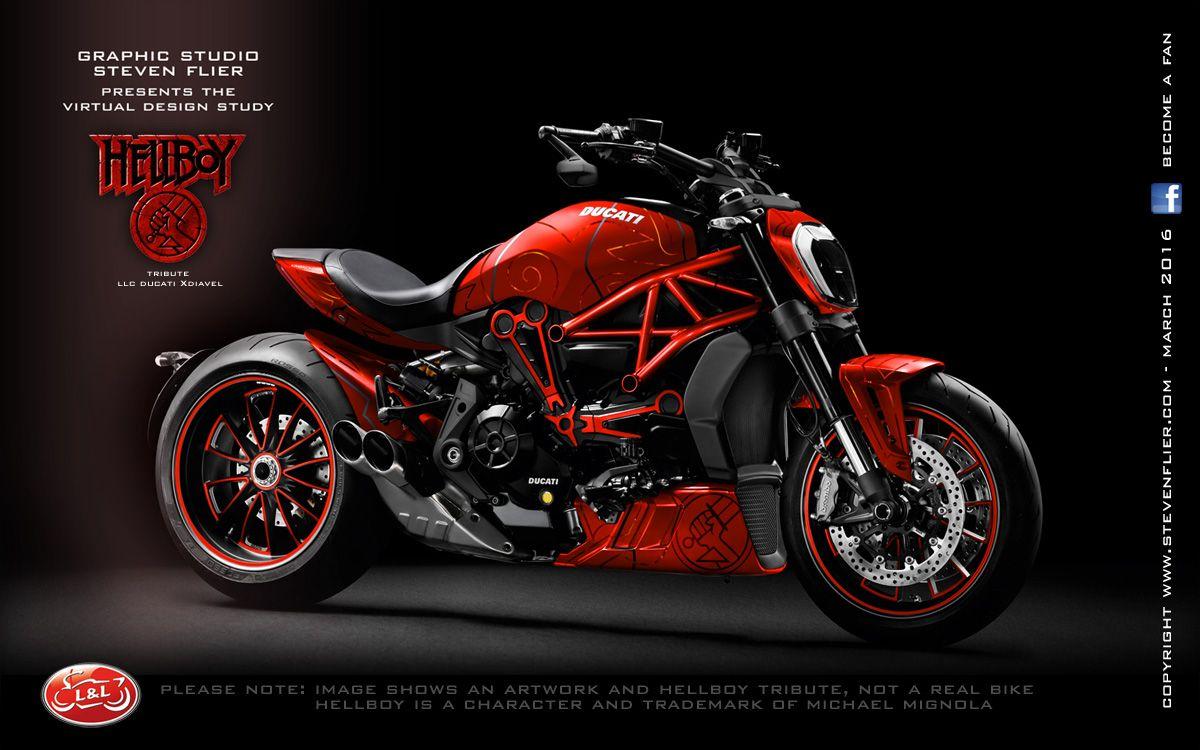 virtual tuning ducati xdiavel - hellboy | motorcycle designs