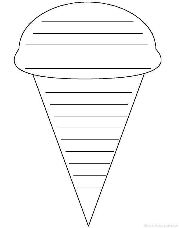 ice cream writing prompt ice cream cone shape poem poetry shape poems writing worksheets. Black Bedroom Furniture Sets. Home Design Ideas
