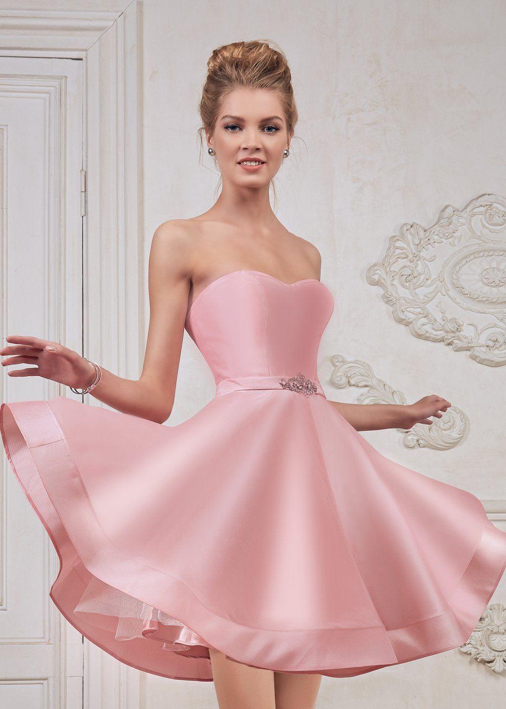 7c76645e1e7 Легкое атласное платье с открытыми плечами FA089B купить в интернет-магазине  TobeBride