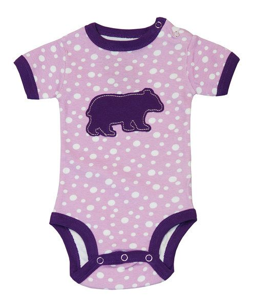Adorable from top to button-snap bottom, this sweet bodysuit is loaded with a precious graphic that will have Baby swaddled in cheek pinches and hugs. With handy button snaps at the shoulder as well, it makes fitting darlings into this delightful number extra easy. 100% cottonMachine wash; tumble dryImported