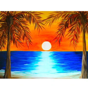 5d Diamond Painting Blue Sunset Painting On The Sea Paint With Diamonds Art Crystal Craft Decor Sunset Painting Sunrise Painting Easy Canvas Painting