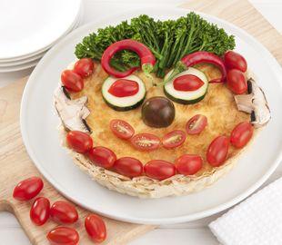 Platos originales. Tarta de tomates cherry y bimi