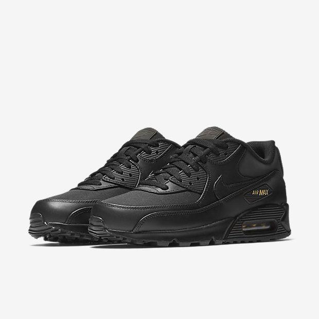 Nike Air Max 90 Premium BlackGold | Schwarze nike, Nike air