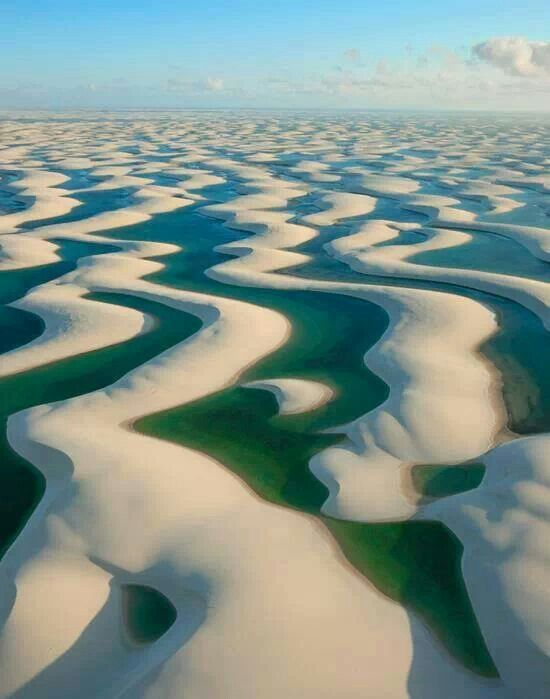 Lençóis Maranhenses National Park, Brazil #patternpod #travel #beautifulplaces #photography