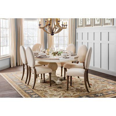 One Allium Way Antonie Oval Upholstered Dining Chair (Set ...
