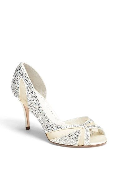 Free shipping and returns on Benjamin Adams London 'Catherine' Pump at Nordstrom.com. Mesh panels set off the dazzling crystal landscape of a peep-toe pump cut with an asymmetric upper.