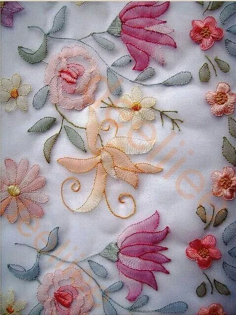 Pin By Denise Mello On Embroidery Pinterest Embroidery Ribbon