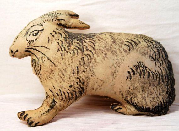 Digitized Stuffed Rabbit by janlewin on Etsy, $12.00