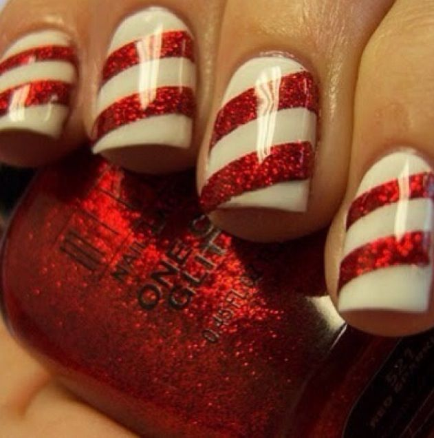 Christmas Nail Art Designs Candy Cane Hession Hairdressing