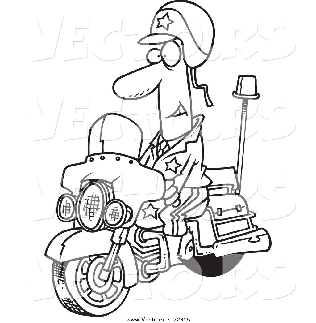 Police Motorcycle Coloring Pages Coloring Pages Adult Coloring