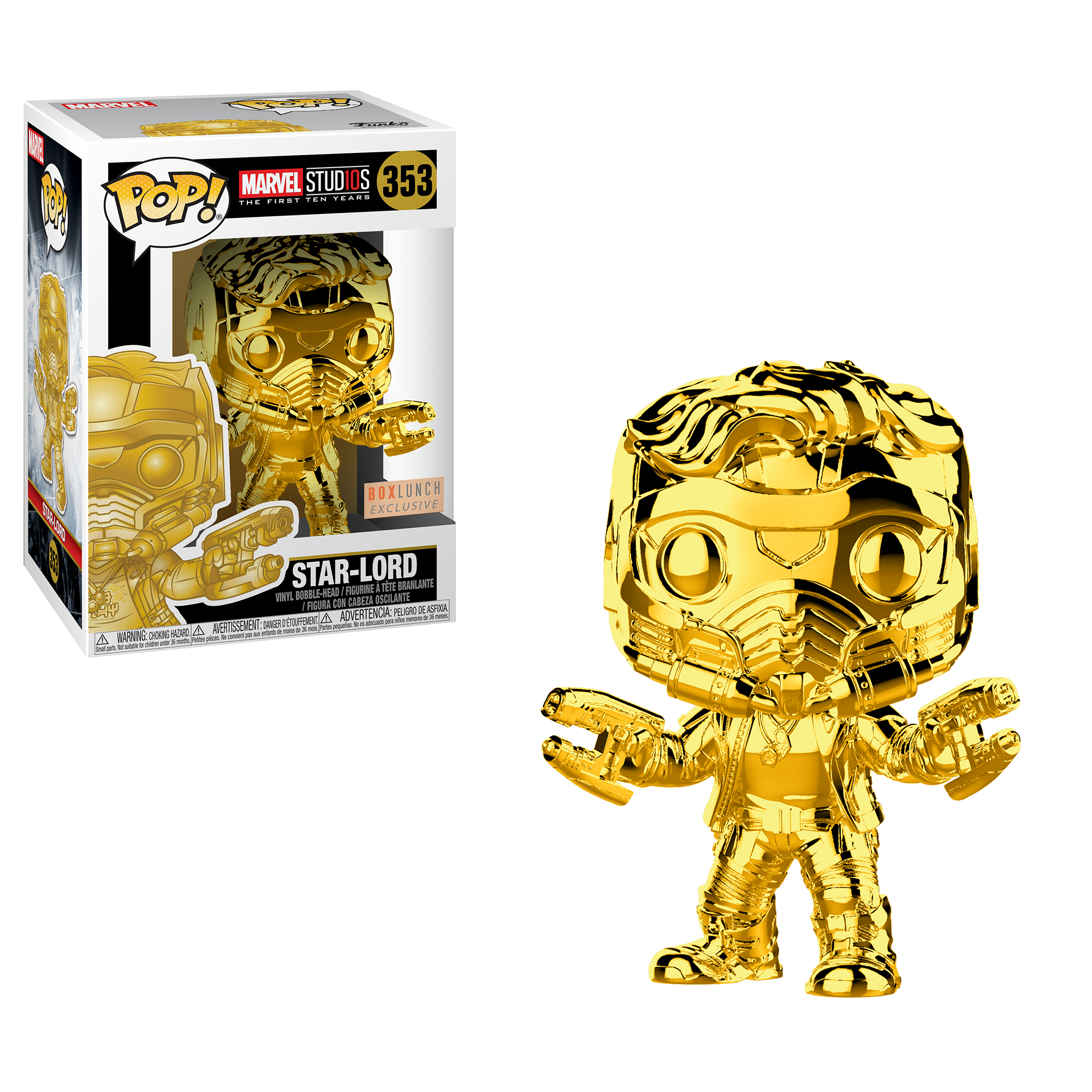 New Marvel Studios 10 Chrome Pop Coming From Funko Funko Pop Star Lord Funko