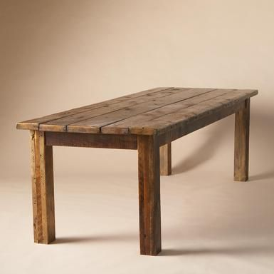 Farm House Rustic Dining Table For One Day When We Have A