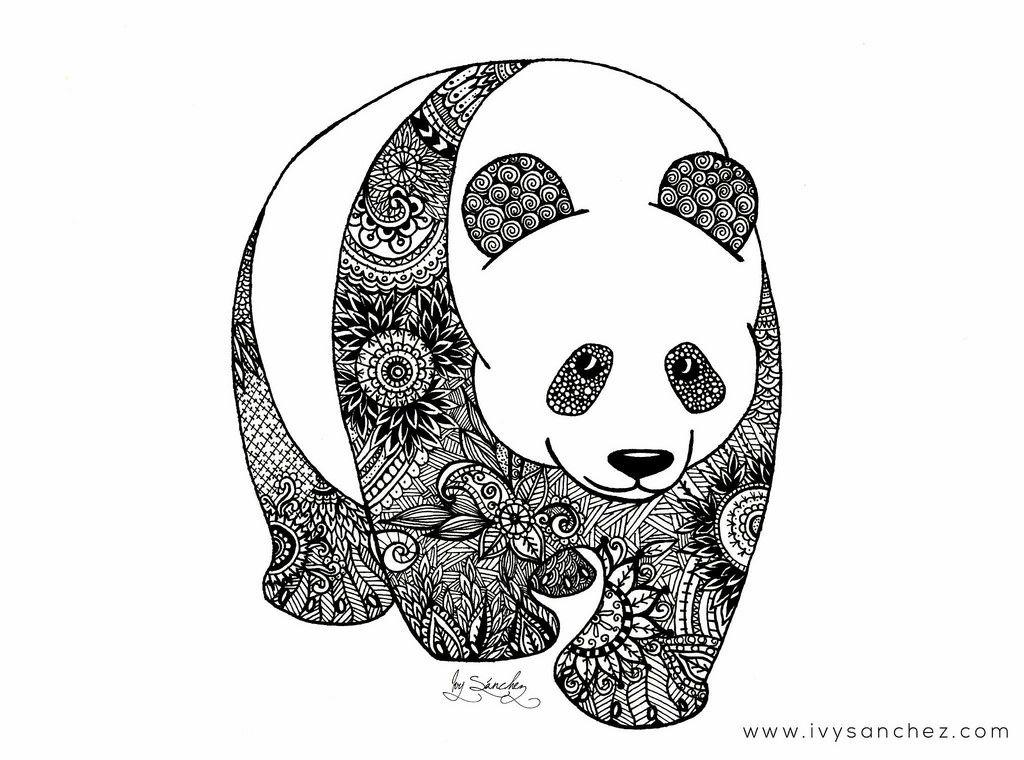 Mandalas Para Colorear Con Animales Y Zentangles: Resultado De Imagen Para Pandas Con Mandalas