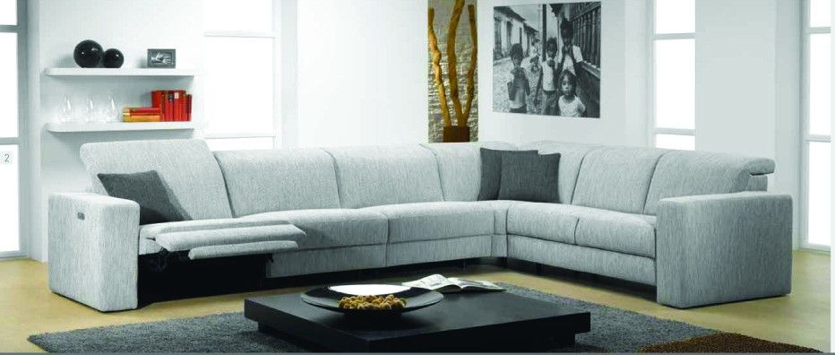 Artemis Fabric Sectional Sofa with electric recliner by ROM