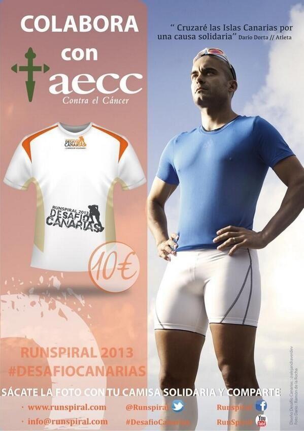 Cruzando las islas por una causa solidaria a favor de AECC, ¡compra tu camiseta!