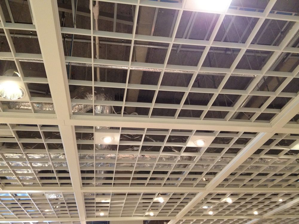 四角い格子状の天井 格子 戸 格子 天井