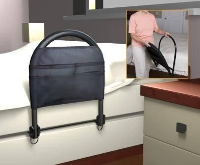 Bed Rail With Pocket Organizer In 2020 Bed Rails Cool Beds
