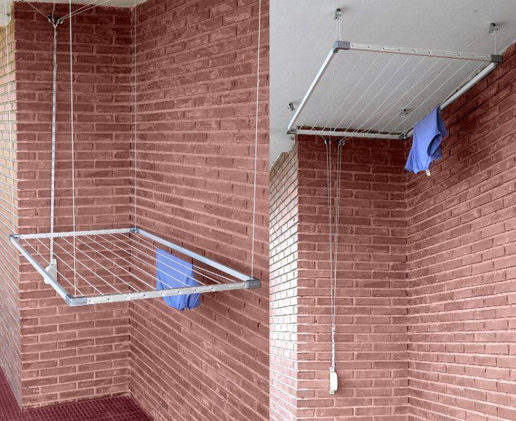 Tendedero de techo cat logo aki bricolaje jardiner a - Tendederos de balcon ...