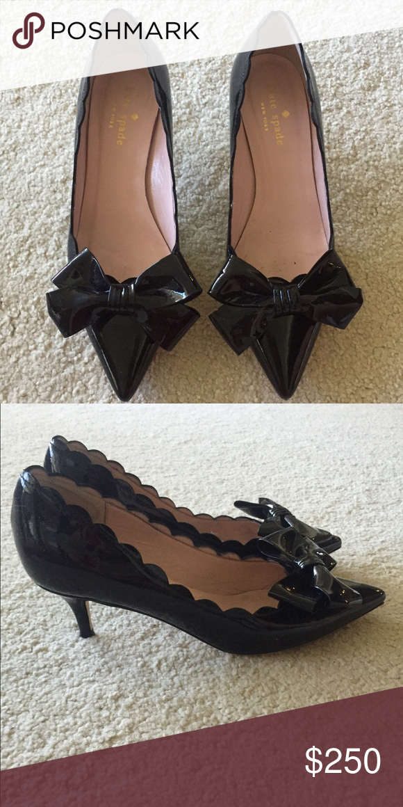 1917f8854b05 Kate Spade Maxine Heels Cute bow and scalloped edges. Worn 3 times. kate  spade Shoes Heels