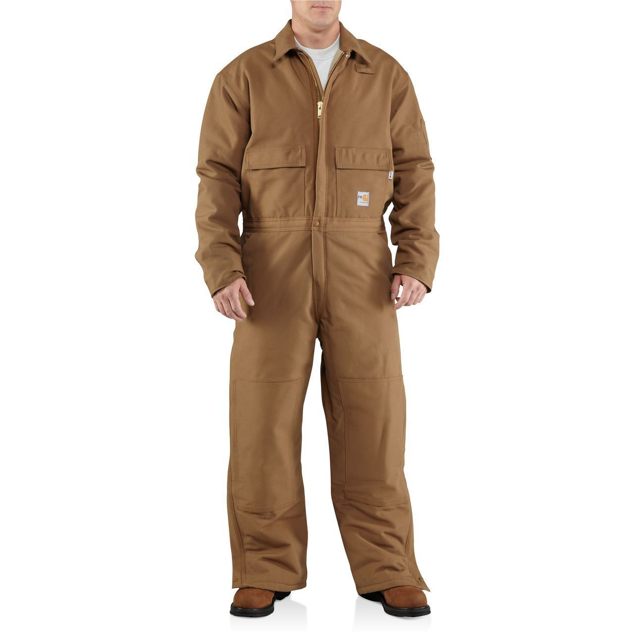 fr duck coverall the brown duck coveralls insulated on insulated overalls for men id=32617