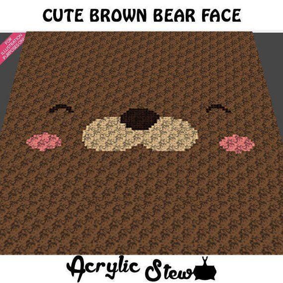 Graphgan Pattern - Corner to Corner - C2C Crochet - Cute Teddy ... | 570x570