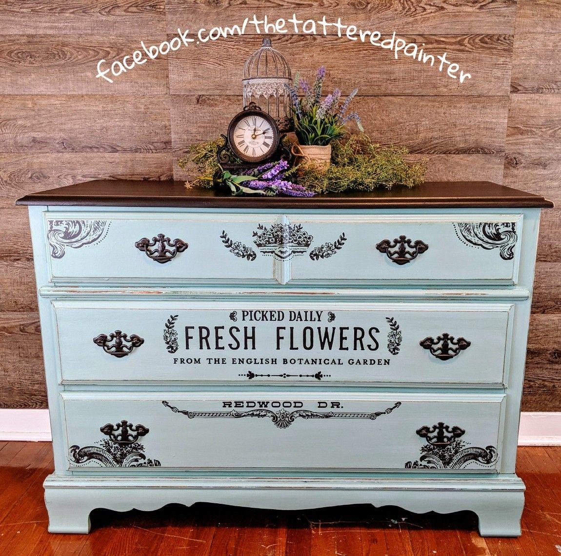 Shabby Chic Dresser Shabby Chic Dresser Diy Painting Flower Decorations