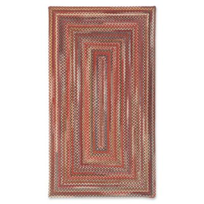Capel Rugs Portland Braided 1 8 X 2 6 Accent Rug In Red Red Area Rug Braided Rugs Capel Rugs