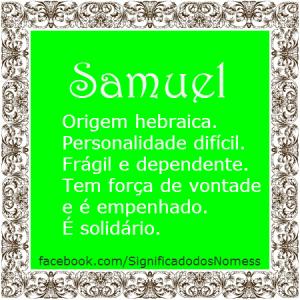 1b9a757c189 Significado do nome Samuel | Significado dos Nomes | Projetos para ...