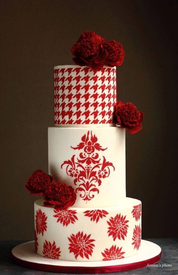 Pre Valentine S Day Wedding Cake Cake By Jessica Mv Cakes