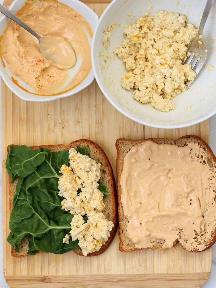 5 Minute Tofu Egg Salad Sandwich Breakfast Recipes