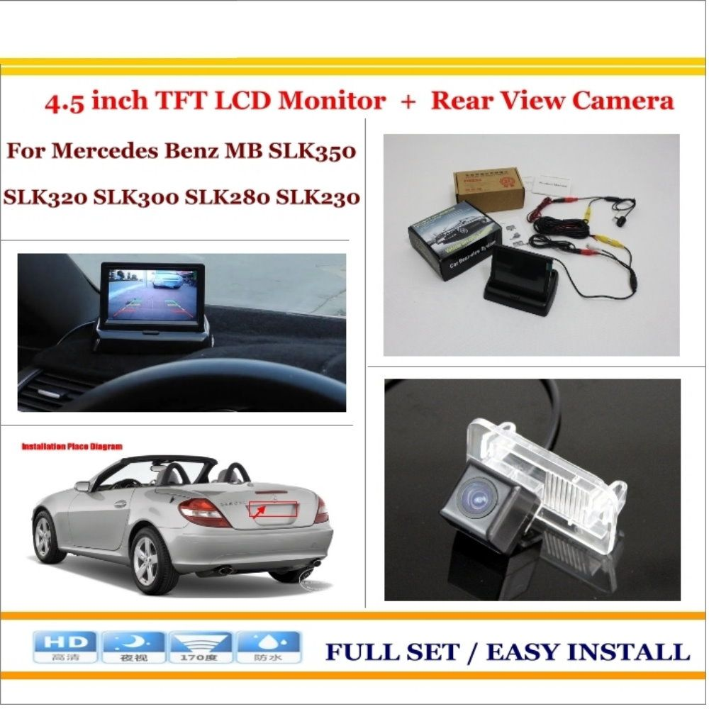 Car Reverse Rear Camera 4 3 Tft Lcd Monitor 2 In 1 Parking System For Mercedes Benz Mb Slk350 Slk320 Slk Car Parking Camera Vw Volkswagen Parking Camera