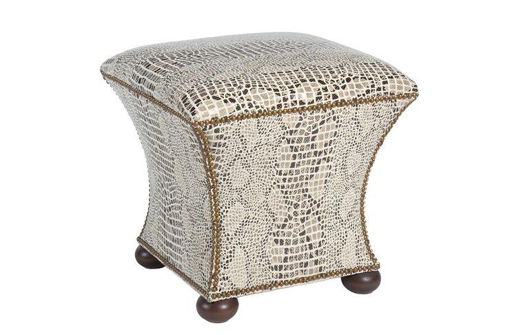 Pearson S 151 Hassock In New Italian Printed Snakeskin Velvet Furniture Upholstered Furniture Italian Print