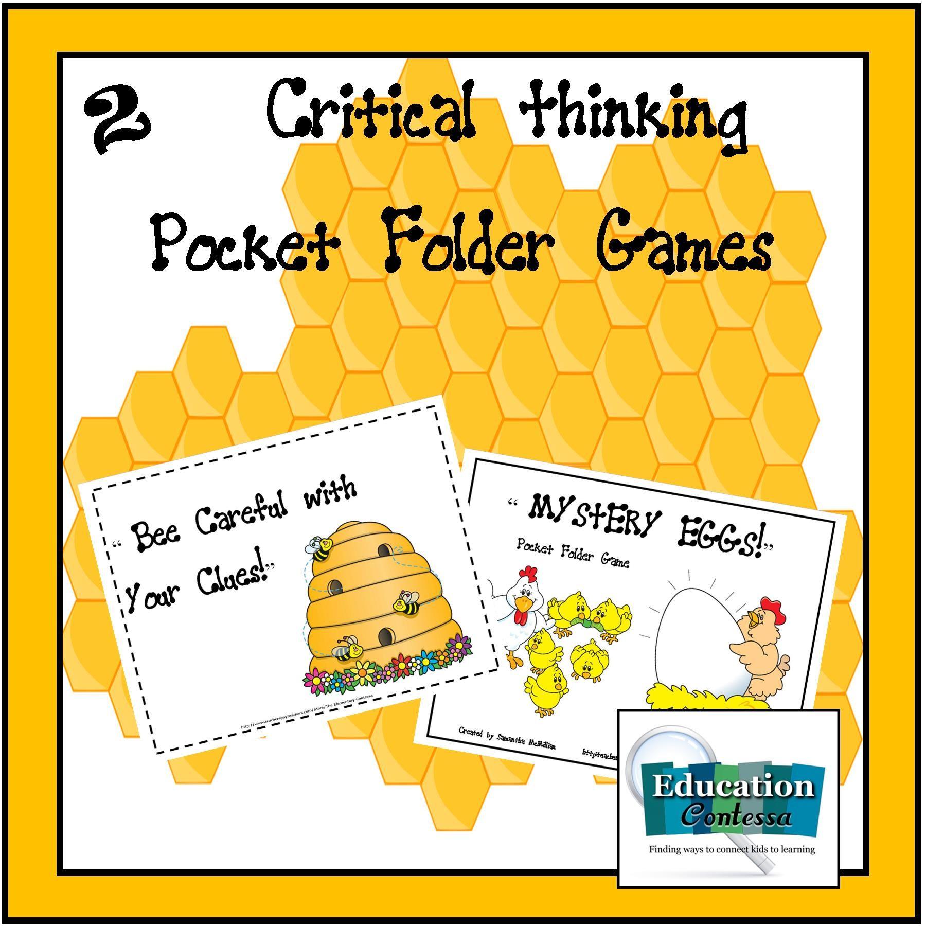 2 critical thinking pocket folder games for balanced
