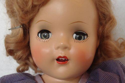 1940s-Vtg-Composition-Doll-X-Box-Original-Clothes-16-Reliable-Horsman-Shirley