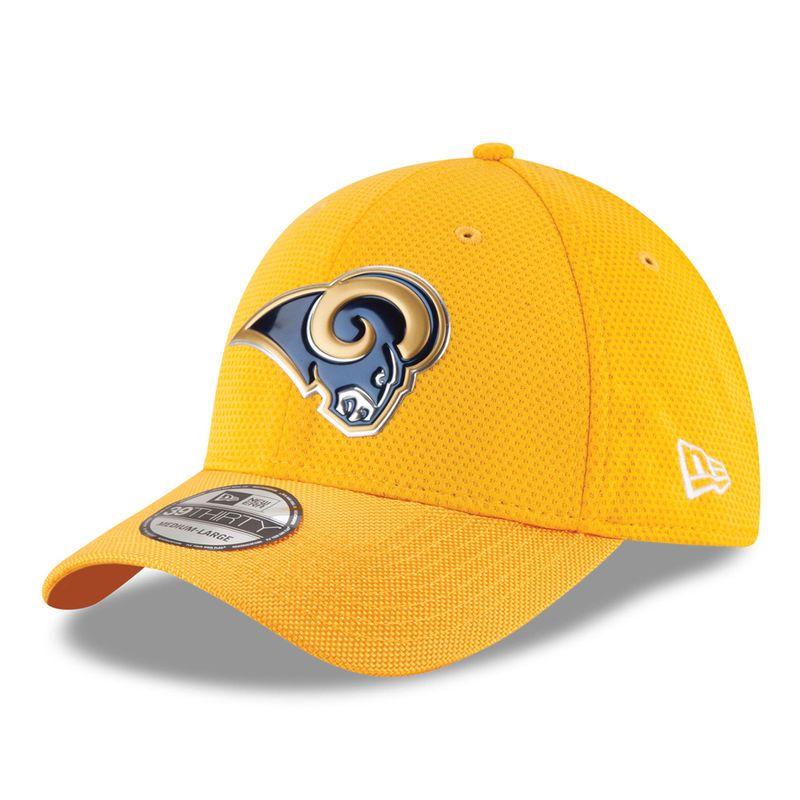 0b1c7be7bdffa2 Los Angeles Rams New Era Color Rush On Field 39THIRTY Flex Hat - Gold